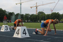20180518 Track Meeting Wageningen 200m Peter en Evelyn Navarro 220px